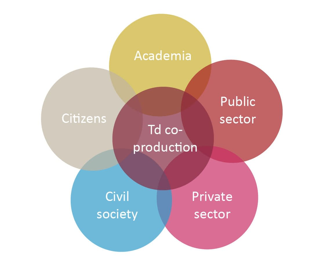 Transdisciplinary knowledge co-production involves actors from different sectors